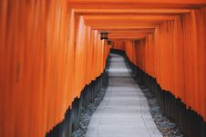 Free Photo Of Black And Orange Hallway Royalty Free Stock Photo - 82951435