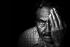 Free Greyscale Photo Of Man In Collared Shirt Covering Left Eye Stock Photos - 82951503