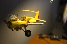 Free Model Aeroplane Hanging From The Ceiling Stock Photos - 82951513