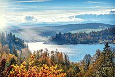 Free Autumn Forest Along Lake Royalty Free Stock Photo - 82951645