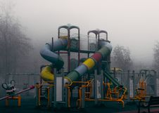 Free Playground In Fog Royalty Free Stock Photos - 82951688