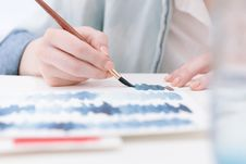 Free Artist With Watercolors Stock Image - 82951831