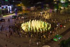 Free Fountain Surrounded By People During Nighttime Royalty Free Stock Images - 82951889