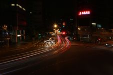 Free City Streets At Night Royalty Free Stock Photography - 82951947
