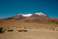 Free Desert And Mountain Landscape Royalty Free Stock Image - 82951966