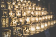 Free Candles In Holders Stock Photography - 82952232