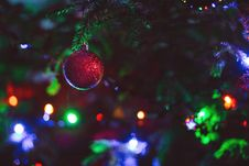 Free Close-up Of Christmas Decoration Hanging On Tree Royalty Free Stock Photos - 82952238