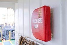 Free Fire Hose Box Royalty Free Stock Photo - 82952465