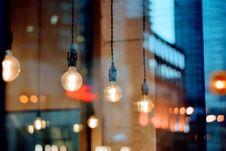 Free Light Fixtures Inside Modern Cafe Stock Images - 82952494