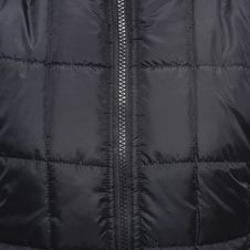 Free Close Up Shot Of Black Zip Up Quilted Textile Royalty Free Stock Photo - 82952545