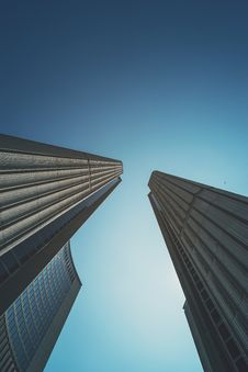 Free Skyscrapers Against Blue Skies Royalty Free Stock Photos - 82952658