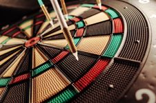Free Darts In Dartboard Stock Photos - 82952723
