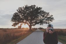 Free Young Man Taking A Picture Stock Image - 82952761