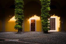 Free Door In Courtyard Royalty Free Stock Image - 82952816
