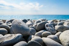 Free Pebbles On Beach Stock Image - 82952851