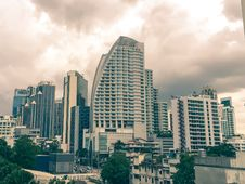 Free Finance District With Clouds Stock Photography - 82952852