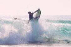 Free Drama On Surf Board  Royalty Free Stock Image - 82952876
