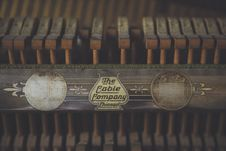 Free The Cable Company Typewriter Ribbon Stock Images - 82952994