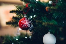 Free Close-up Of Christmas Tree Stock Images - 82953254