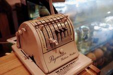Free Vintage Paymaster Machine Royalty Free Stock Photos - 82953898