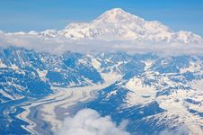 Free Aerial View Of Snowy Mountains Stock Photo - 82954100