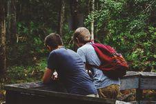 Free Teens On Wooden Boardwalk Stock Photography - 82954302