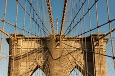 Free Cables On Suspension Bridge Royalty Free Stock Images - 82954979