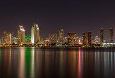 Free Waterfront Skyline At Night Stock Photo - 82955190