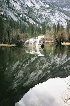 Free Mountainside Reflecting In Alpine Lake Royalty Free Stock Images - 82955809