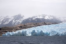Free Glacial Ice Field And Lake  Stock Image - 82956011