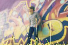Free Graffiti Blur On Wall Stock Photos - 82956053