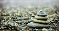 Free Stack Pebbles On The Ground Stock Photography - 82956262