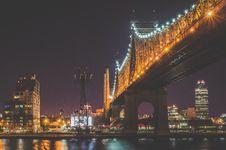Free Concrete Bridge Lights On During Night Time Stock Photo - 82956300