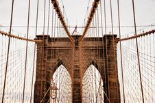 Free Support Cables On Suspension Bridge Stock Image - 82956531