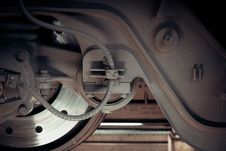 Free Railway Train Wheel And Brakes Royalty Free Stock Photo - 82956585