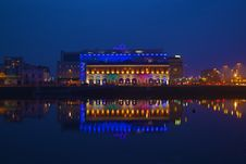 Free Dublin Waterfront At Night Stock Photography - 82957392