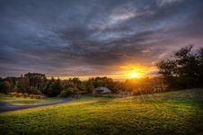 Free Sunset Over Country Field Royalty Free Stock Images - 82957609