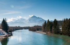 Free Landscape Photo Of Snow Mountain And River Stock Photo - 82957650