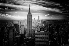 Free Gray Scale Photo Of Empire State Building Royalty Free Stock Photo - 82957775