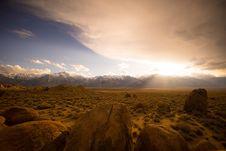 Free Sunset Over Desert Landscape Stock Photo - 82958050