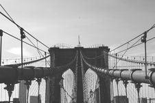Free Suspension Bridge In Brooklyn, New York Royalty Free Stock Images - 82958389