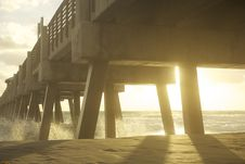 Free Waves Under Wooden Pier Royalty Free Stock Photos - 82958858