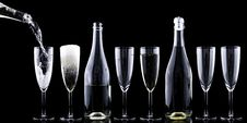 Free Clear Wine Glasses In A Row Royalty Free Stock Photo - 82958945