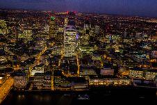 Free City Skyline Illuminated At Night Stock Image - 82959381