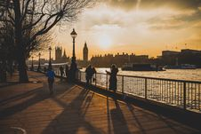 Free Thames River, London, England At Sunset Royalty Free Stock Photography - 82959397