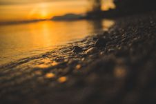 Free Close Up Of Beach At Sunset Stock Image - 82959461