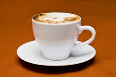 Free White Ceramic Cup On White Ceramic Saucer Royalty Free Stock Image - 82959686