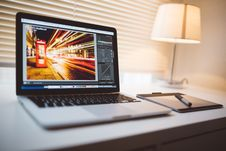 Free Home Office With Laptop Computer Stock Photography - 82959702