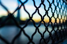 Free Close Photography And Tilt Lens Of Black Chain Link Fence Stock Photo - 82959710