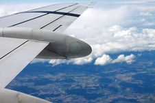 Free Airplane Wing In Blue Skies Royalty Free Stock Photography - 82959767